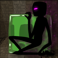 Enderman and Slime by AccursedAsche