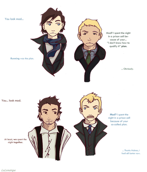 Sherlock : Not so different by LaLunatique