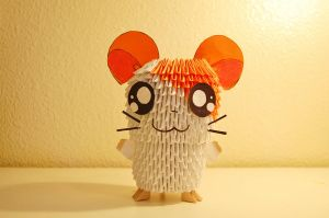 3D Origami Hamtaro by iBeautyLovely