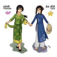 APH - Indochina Sisters by MmmAnchovies