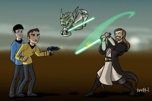 Star Trek vs Star Wars by theSwitt