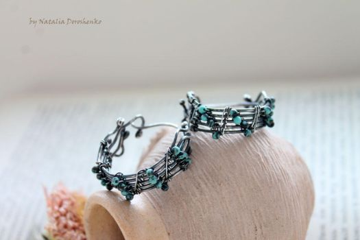 Silver earrings with turquoise by MDorothy