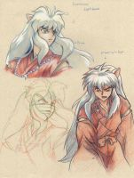 Inuyasha Technical Sketches3 (2008) by La-Nora
