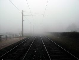 Rails Under Fog by kobememo