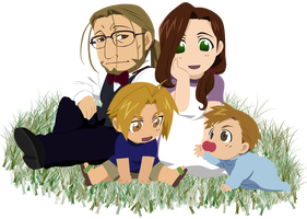 Elric Family Chibi. by Narusailor