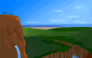 Landscape Painting by frothypuppy
