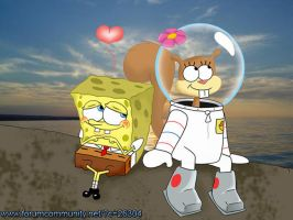 SpongeBob and Sandy Love by StePandy