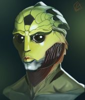 Thane Krios Study by FGreyCoyode