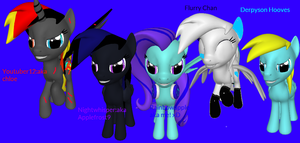 a few pony sfm's for my sfm pony show on here :D by Rainbowapple225
