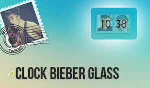 Skin Rainmeter - Clock Bieber Glass By PiitufiitoG by PiitufiitoGrr