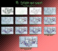 Cryptids Step by Step by QuiltedPanda