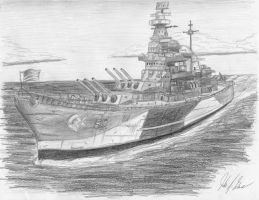 USS North Carolina 2 by wyoairbus