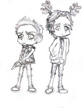 Winchester chibis by Te-double-gz
