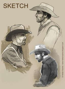 Cowboy_Sketch by HelberS