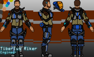 Tiberius Riker Character Concept by sketchyman3000