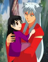 Inuyasha with Kyami by Seyensay-Dai