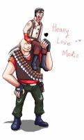 Heavy Love Medic by seueneneye