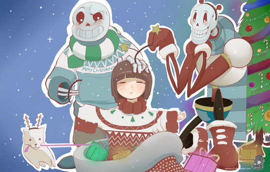 Undertale Christmas by Darksun5