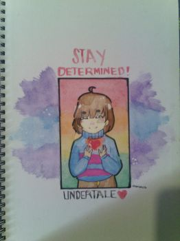 Stay Determined 'lil Frisk! by FumikoYamamoto