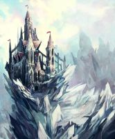 snow castle by fallen-eye