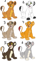 Lion cubs adoptables CLOSED by Onee-Katty