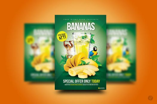 Bananas Special Cocktail Flyer by YczCreative