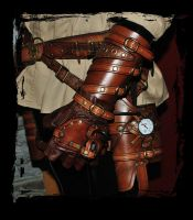 steampunk bracer and maverick holster by Lagueuse