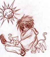 Chibi L from DeathNote by Mamai