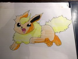 Flareon coloured w/ shading by Car-lover33