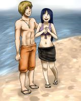 day on the beach -commission- by jessby