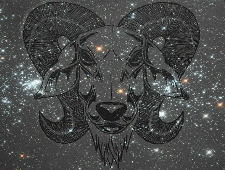 Galaxy Goat by wolfpack69