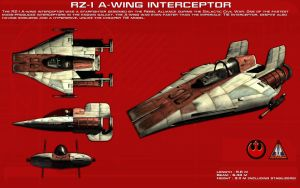 RZ-1 A-Wing Interceptor ortho [New] by unusualsuspex