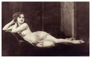 Vintage Lady Reclined Nude 16 by Bnspyrd