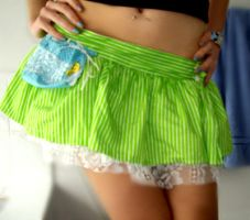 LIME AINT A CRIME - skirt by love-on-a-stick
