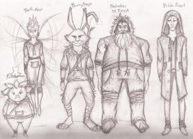ROTG: Jack Frost Outfits by Morisaurus