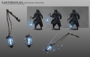 Bloodborne Fanart - Lanternflail weapon idea by daemonstar