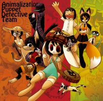 Animalization Puppet detective Team by hi6sho