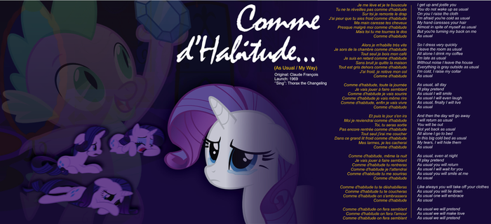 Comme d'Habitude - Rarity X Spike by abonomini