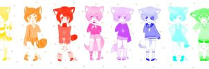 - Neko Boys Adopts - CLOSED - by SunflowerDragon