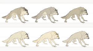 Werewolf colors by sterlingy