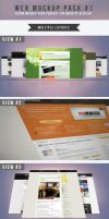 Web Mockup Pack #1 by frozencolor
