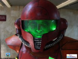 Metroid Cosplay - Power Suit Helmet by Platinumfungi