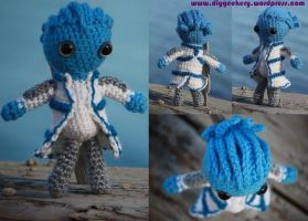 Mass Effect Liara T'Soni Amigurumi by diygeekess