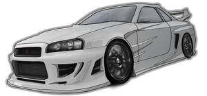 Skyline R34 - Vexel by Terror-Inferno