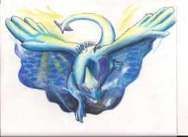 FINISHED LUGIA by americaneagIe