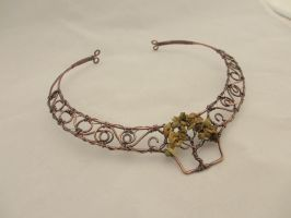 Tree of Life Copper Wire Wrapped Collar by KarenOlwen
