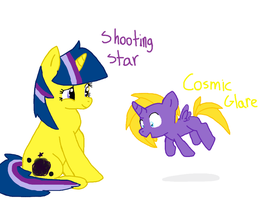 Shooting Star and Cosmic Glare by Icytherabbit1
