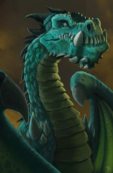 Underbite, The Blue Dragon by TylerJustice