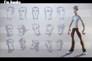 Im Awake model sheet (MC) by EduHerrera