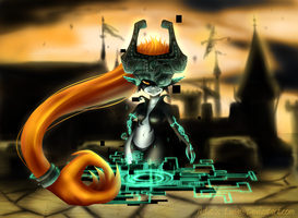 Midna Painting by Astatos-Luna